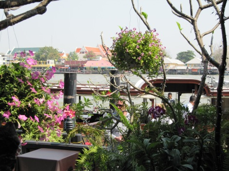 View of the Chao Phraya River from Supatra River House Restaurant