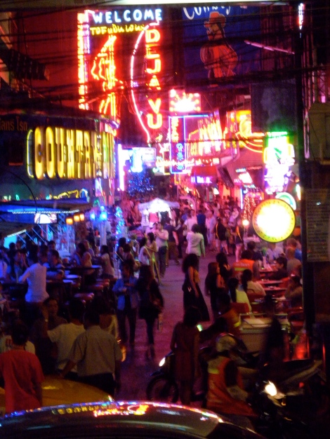 Patpong night market in the middle of the red-light district