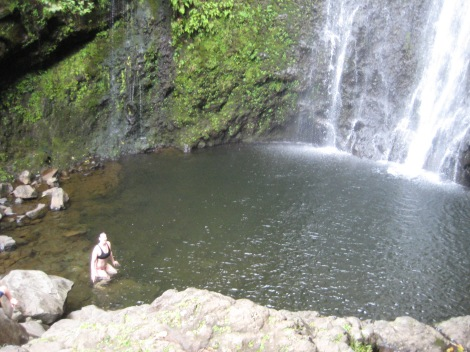 Swimming in Kipahulu waterfalls