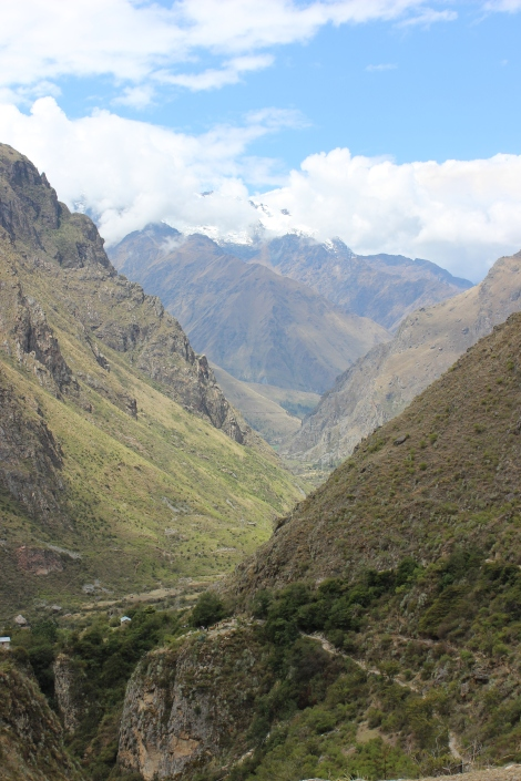 Inca Trail between Wallyabamba and Dead Woman's Pass